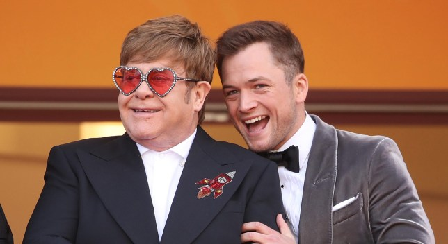 "CANNES, FRANCE - MAY 16: Sir Elton John and Taron Egerton attends the screening of ""Rocketman"" during the 72nd annual Cannes Film Festival on May 16, 2019 in Cannes, France. (Photo by Mike Marsland/WireImage)"