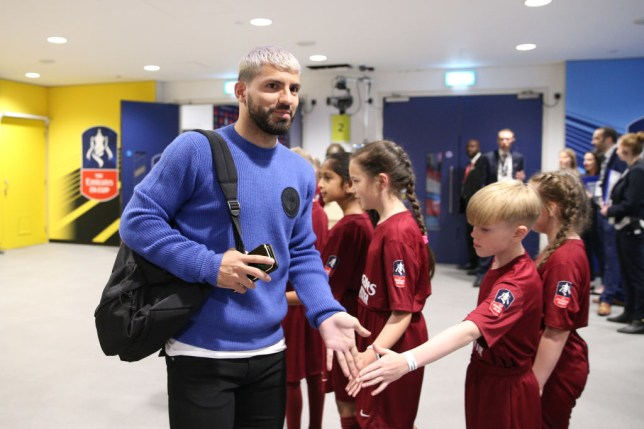 Sergio Aguero was named on the Manchester City bench v Watford