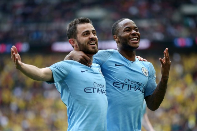 Raheem Sterling scored a hat-trick as Man City thrashed Watford
