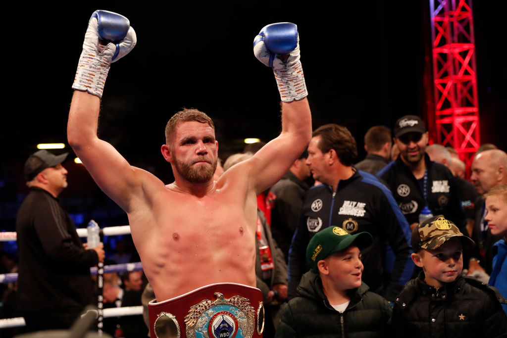 Billy Joe Saunders outclasses Shefat Isufi to become two-weight champion