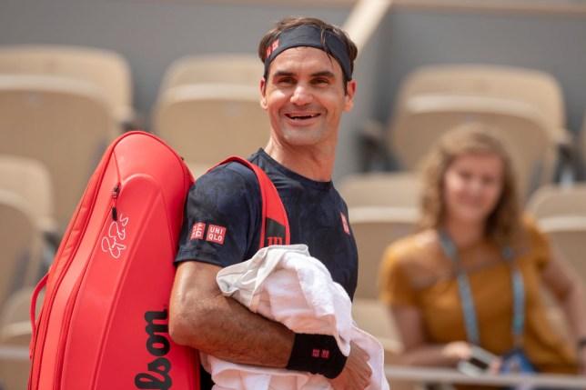 Roger Federer smiles