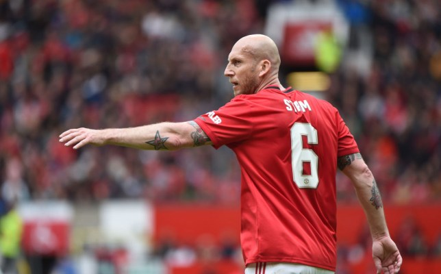 Jaap Stam took part in Manchester United's 1999 Treble Union charity game at Old Trafford