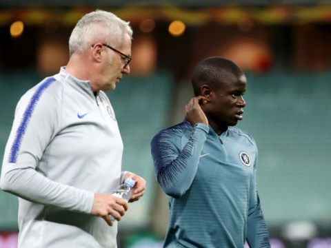N'Golo Kante manages just 25 minutes in Chelsea's final training session before Europa League final