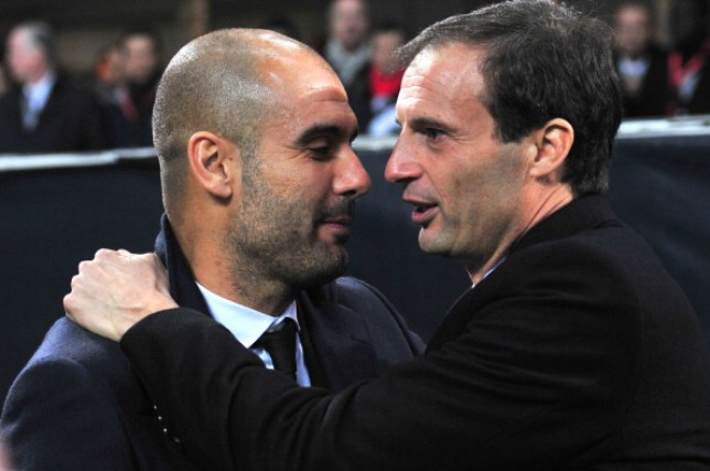 Pep Guardiola has been linked with a move to Juventus following Max Allegri's departure