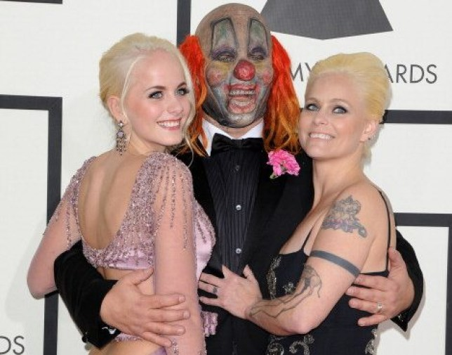 Shawn Crahan, wife Chantel Crahan and daughter Gabrielle Crahan
