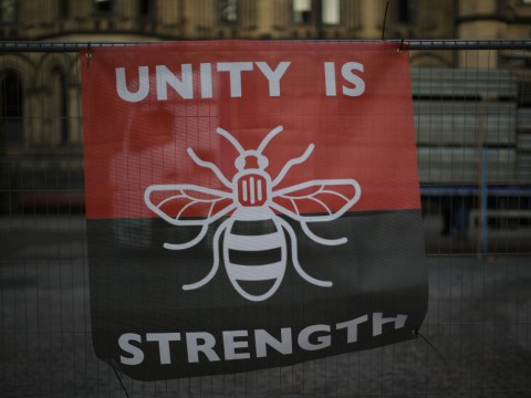 What does the Manchester bee represent as victims mark two years since Manchester Arena bombing?