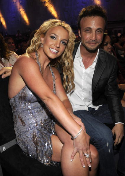 Britney Spears with her longtime manager Larry Rudolph at the MTV VMAs