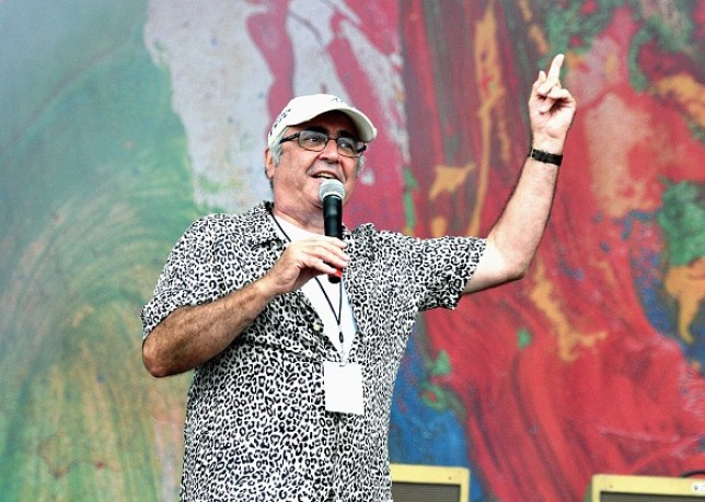 Danny Baker compares the main stage at OnBlackheath at Blackheath Common