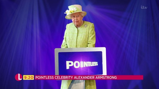 Alexander Armstrong spoke about the Queen's Pointless skills on Lorraine