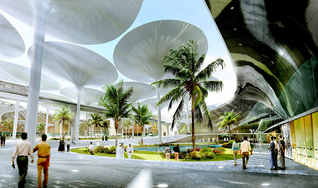 CGI distraction of Masdar City skeleton (Picture: Masdar)