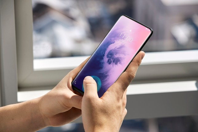There's no notch on this phone because the camera is hidden inside the casing (OnePlus)