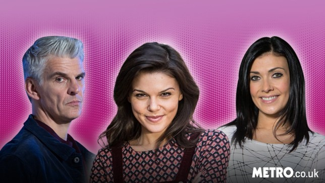 faye brookes as kate connor, kym marsh as michelle connor, and tristan gemmill as robert preston from coronation street