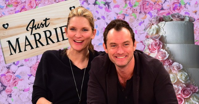 Jude Law with Phillipa Coan