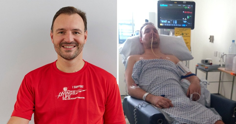 Steven was paralysed after a cycling accident