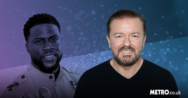 Ricky Gervais and Kevin Hart