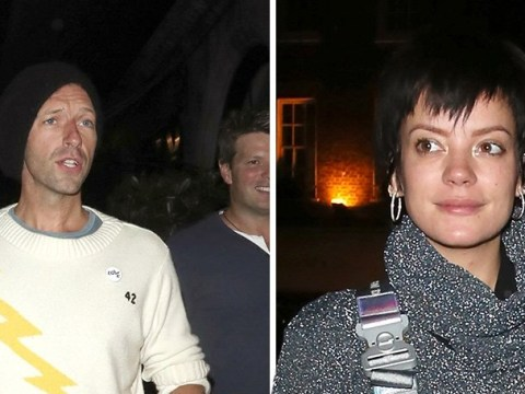 Lily Allen enjoys birthday bash with pal Chris Martin who staged intervention for pop star