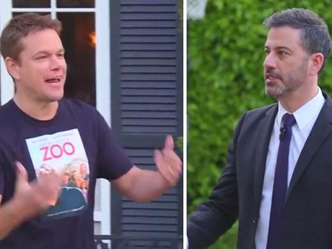 Jimmy Kimmel got Tom Brady to smash Matt Damon's window