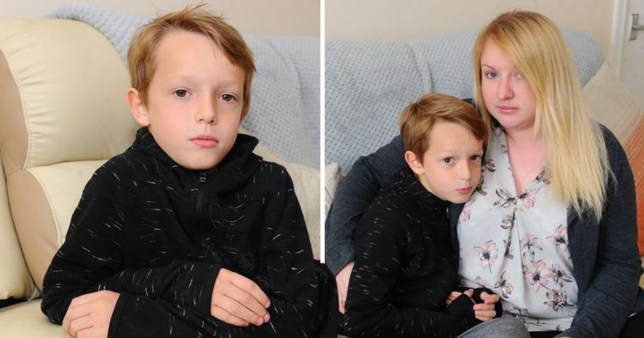 Kieron Lowden, eight, was expelled from Oldfleet Primary School, Hull, but his mum Sarah, 30, thinks he may have attention deficit hyperactivity disorder.