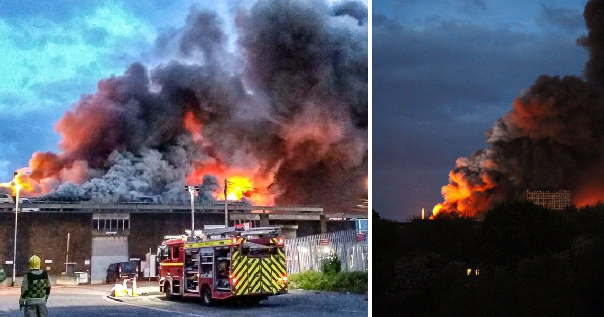Dozens evacuated as huge fire breaks out in Bristol