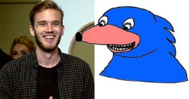Pewdiepie Sonic drawing on ebay