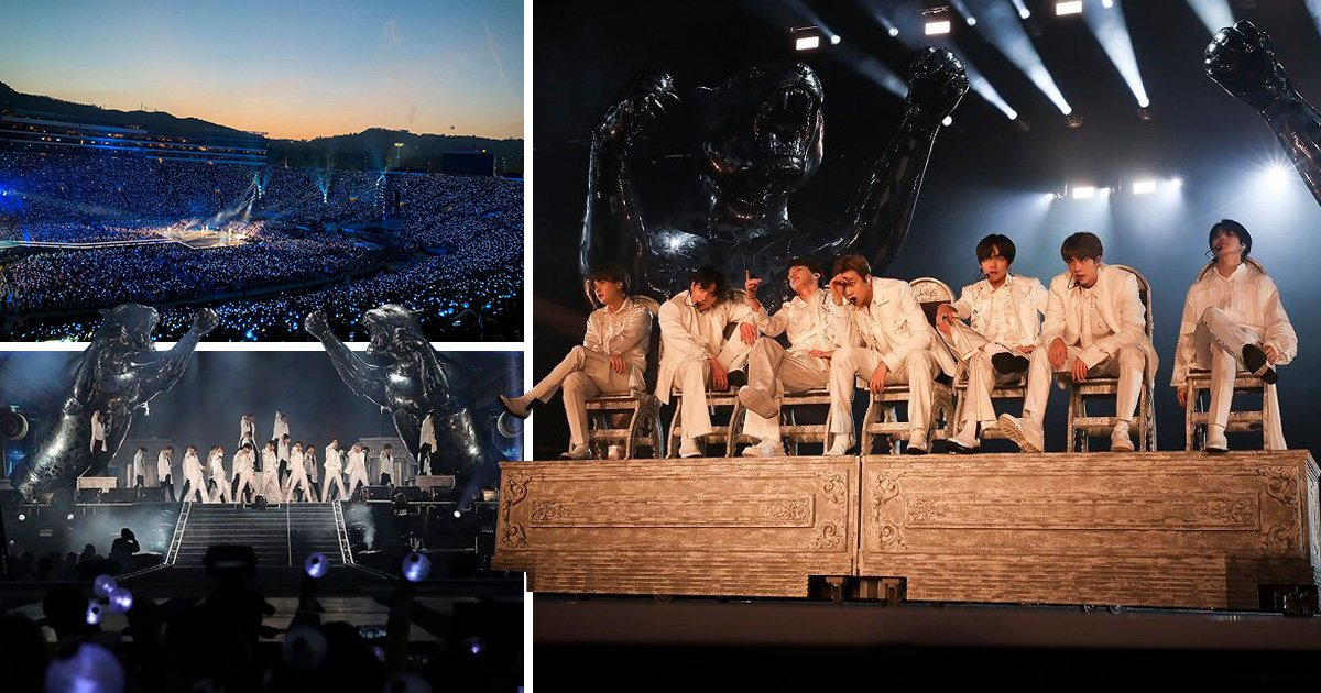 BTS own stage in custom Dior as they launch Love Yourself: Speak Yourself stadium tour to 60,000