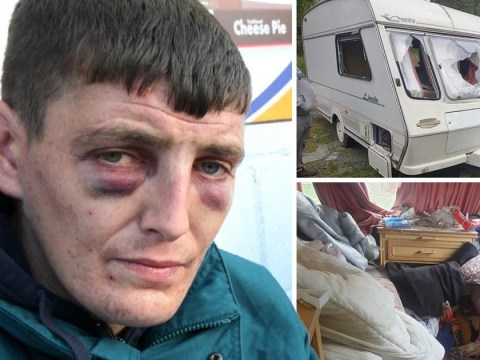 Homeless man abandons 'wrecked' caravan six months after family gave it to him