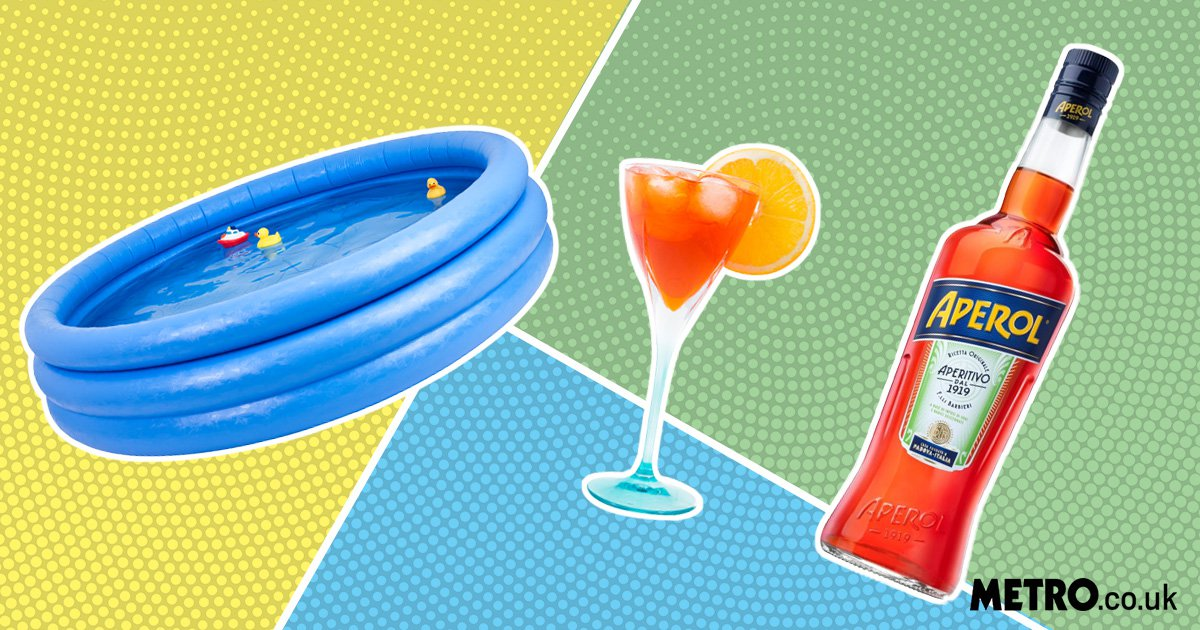Get your swimwear ready, an Aperol Spritz lido and orange waterfall is coming to London