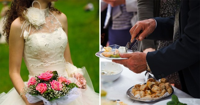 The woman was the daughter of the bride's dad's friend
