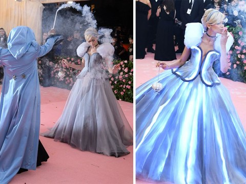 Zendaya turns up to Met Gala as actual Cinderella complete with fairy Godmother and luminescent dress