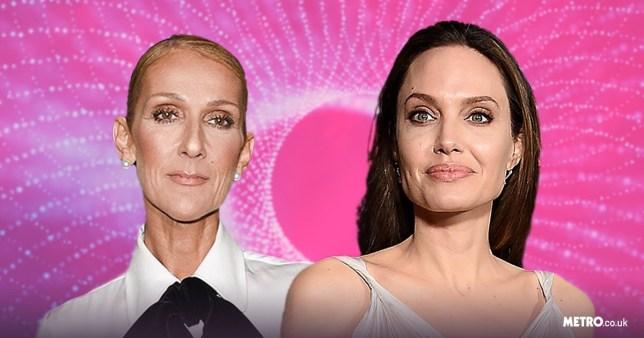 Celine Dion and Angelina Jolie