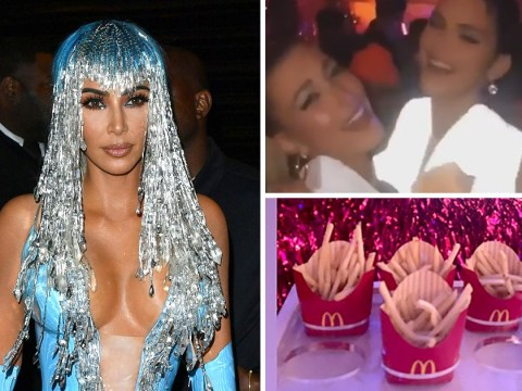 Kim Kardashian gives the people what they want as she serves McDonald's fries at lavish Met Gala afterparty