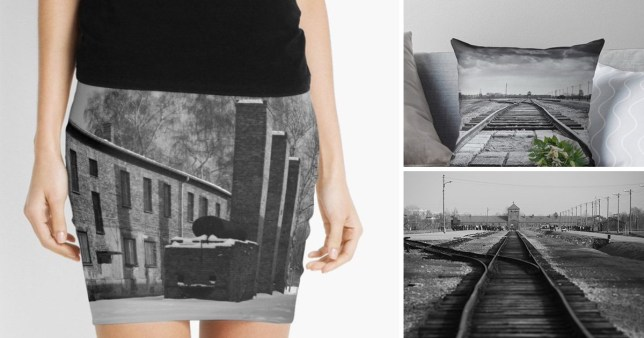 The Auschwitz museum shames fashion website Red Bubble for selling Nazi death camp skirts, totes and cushions online