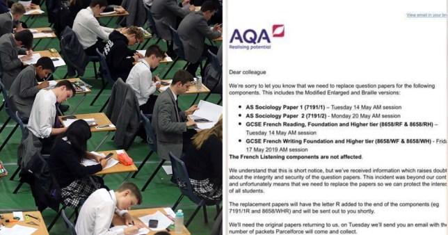 GCSE and AS level exam papers go missing days before tests