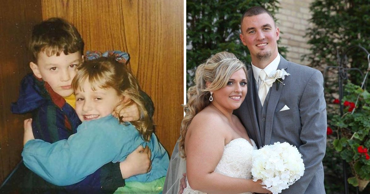 Couple wed twenty years after they first met during a life-changing surgery as kids