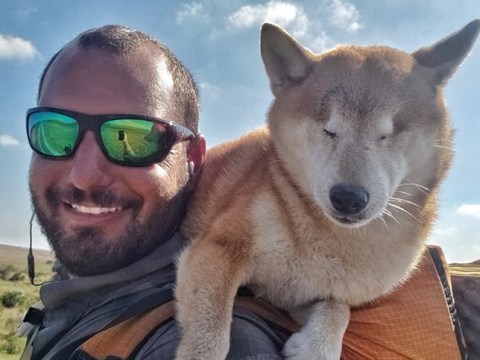 Man takes dog on incredible 1,100 mile hike after she goes blind