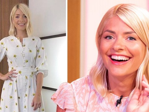 Holly Willoughby throws some flower power after royal baby homage