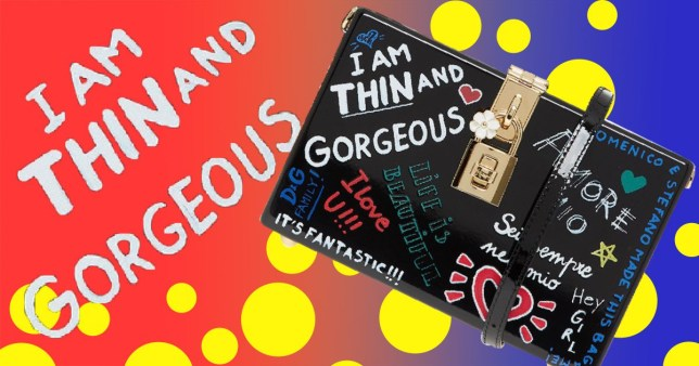 Dolce & Gabbana 'I am thin and gorgeous' bag