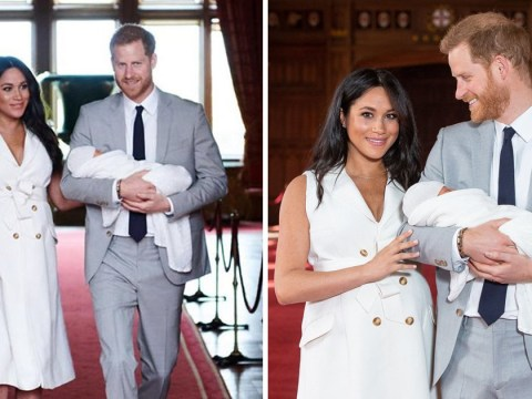 Meghan and Harry share first picture of their son on Instagram