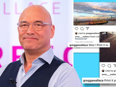 Gregg Wallace keeps asking his wife to print out her Instagram pictures and it's a bit strange