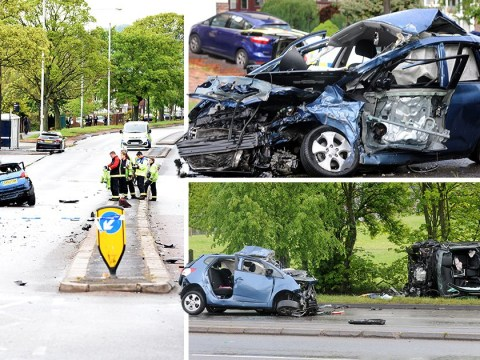 Mum in critical condition and toddler injured after being pulled out of car wreckage