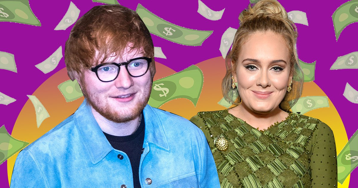 Ed Sheeran beats Adele in Rich List as he doubles his wealth to total £160 million in just a year