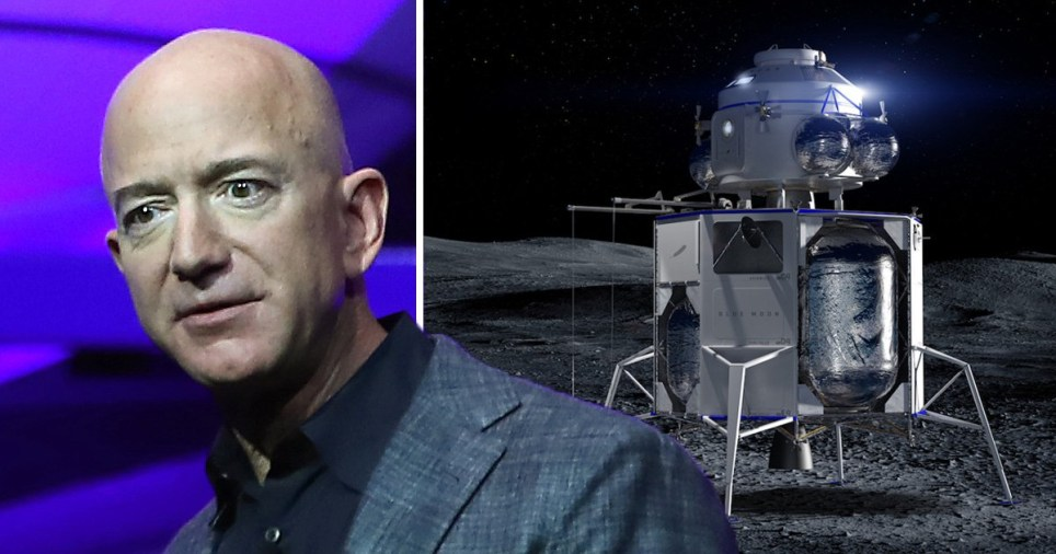 Billionaire Jeff Bezos created Blue Origin, which has just revealed its first ever lunar lander called Blue Moon (Blue Origin)