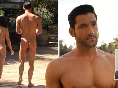 Lucifer fans go wild as Tom Ellis gets butt naked in cheeky nudist episode