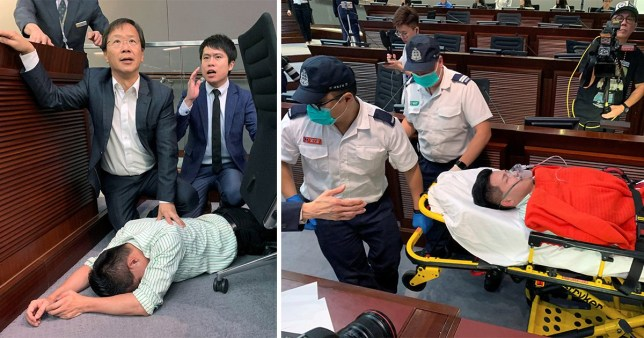 Hong Kong Parliament  brawl