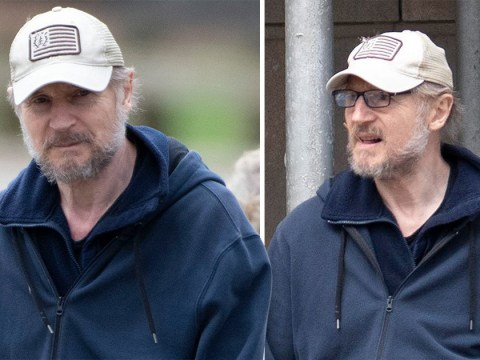 Liam Neeson keeps head down in rare outing after 'black b******d' comments