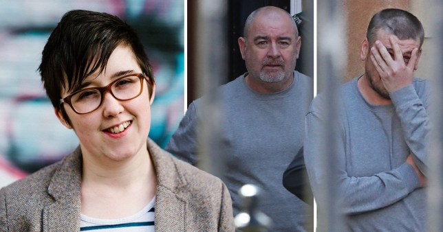 Two men have refused to stand in court after being charged with rioting on the night Lyra McKee was killed