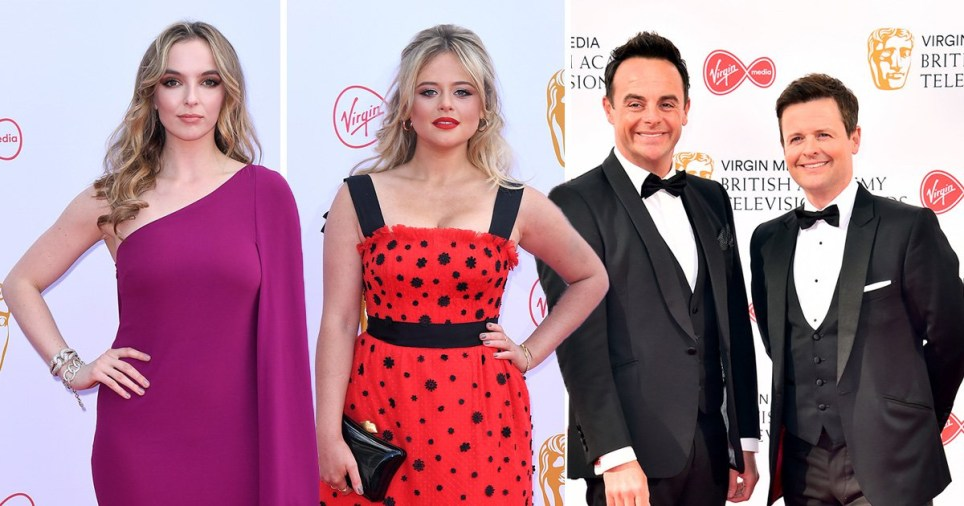 Jodie Comer, Emily Atack and Ant McPartlin and Declan Donnelly on the Bafta TV awards red carpet