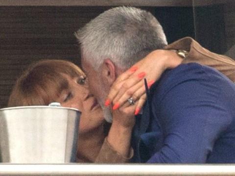 Paul Hollywood looks smitten as he kisses Summer Monteys-Fullam at the races