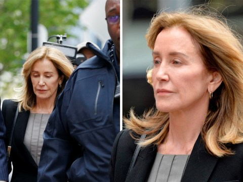 Felicity Huffman appears solemn as she arrives at court to plead guilty in college admissions fraud case