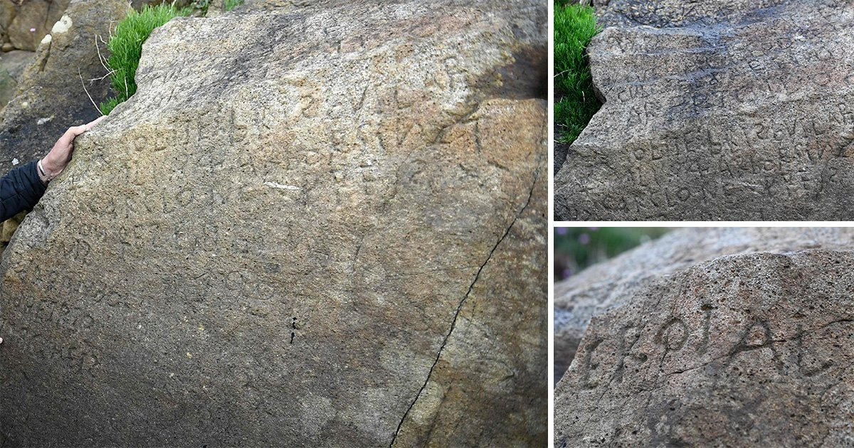 Ancient stone carvings forged into 230-year-old rocks